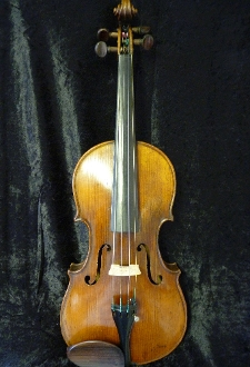 Images of a 3/4 Ernst Reinhold Schmidt (E.R. Schmidt) violin around 1900. Label image shows signature of E.R. Schmidt himself, indicating this violin to be of the highest quality.
