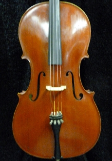 Images of a very red, West German made cello by Erich Grunert factory in Penzberg. This cello is from 1976 and is in excellent condition with a minor repair only.