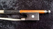German 4/4 2000 *Dörfler* Silver Mounted Crest Violin Bow