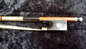 German 4/4 1990 H. R. Pfretzschner Nickel Mounted Violin Bow