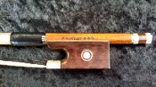 German 4/4 2011 K Müller Fancy Silver/ Snakewood Violin Bow
