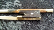 German 4/4 1920 Ernst Kreusler Nickel Pernambuco Violin Bow